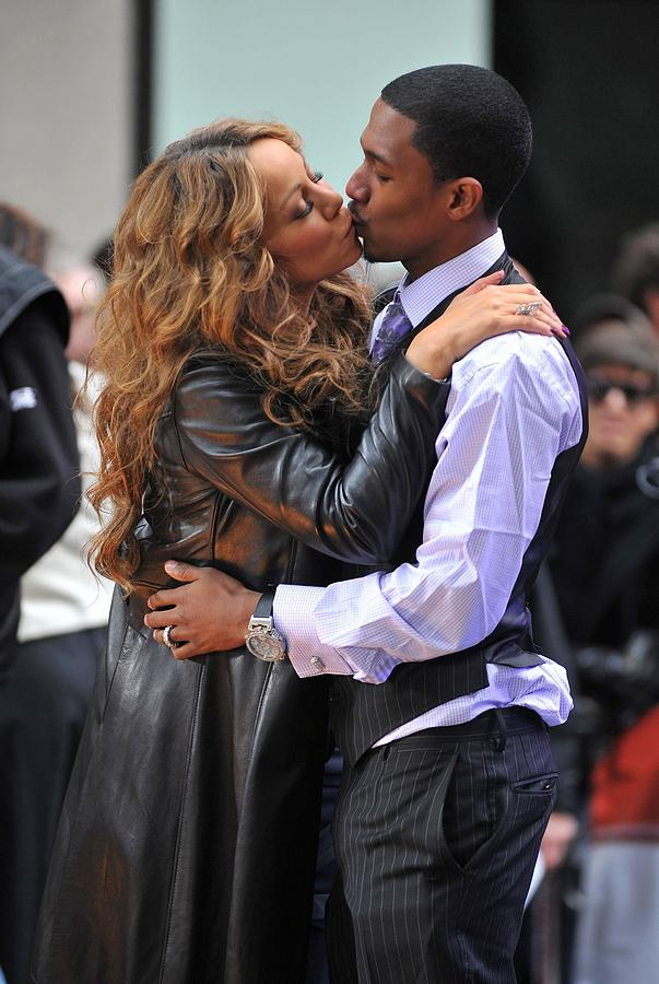 Mariah Carey, Nick Cannon At Talk Show Photograph  - Mariah Carey, Nick Cannon At Talk Show Fine Art Print