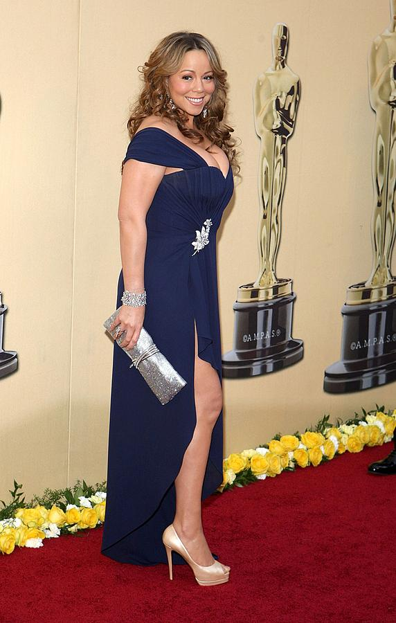 Mariah Carey Wearing A Valentino Gown Photograph