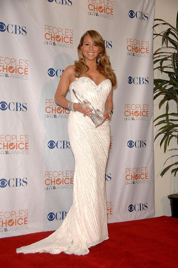 Mariah Carey Wearing A Ysa Makino Gown Photograph  - Mariah Carey Wearing A Ysa Makino Gown Fine Art Print