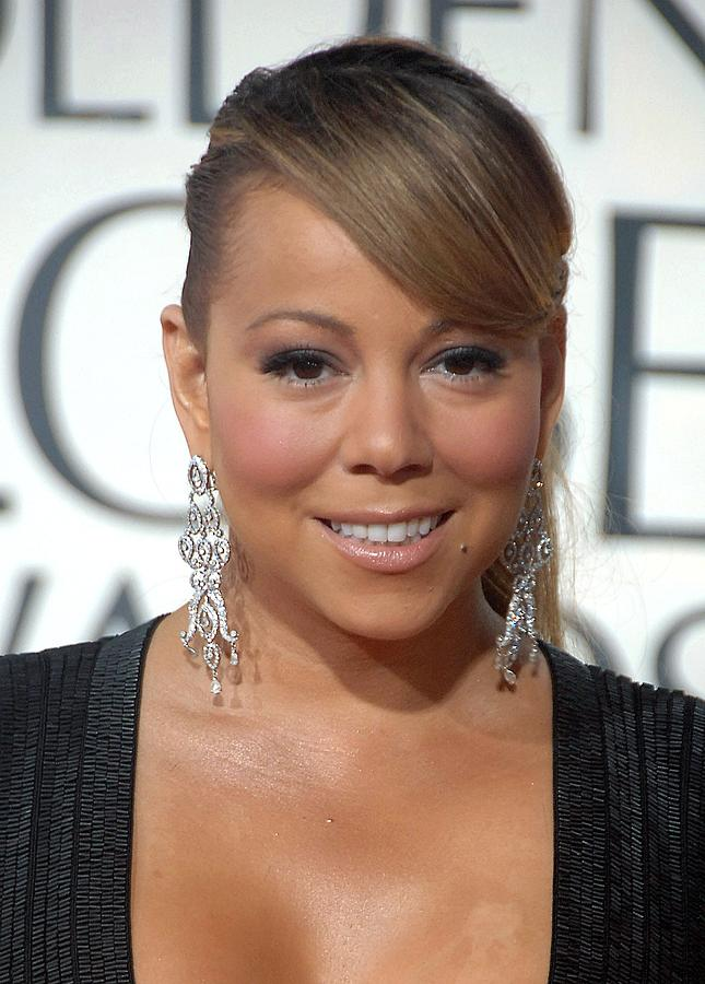 Mariah Carey Wearing Chopard Earrings Photograph