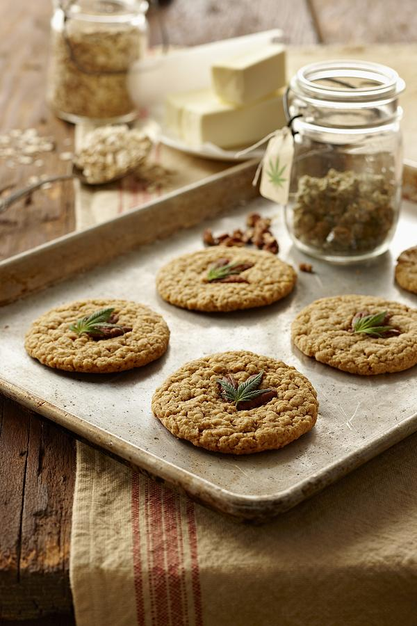 Marijuana Oatmeal Cookies Photograph