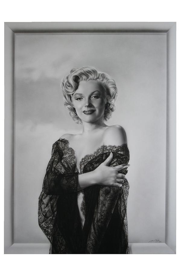 Marilyn In Lace Painting  - Marilyn In Lace Fine Art Print