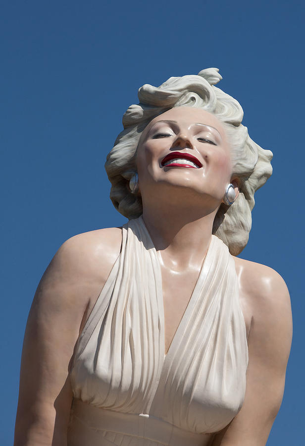 Clouds Framed Prints Photograph - Marilyn In The Sun by Matthew Bamberg