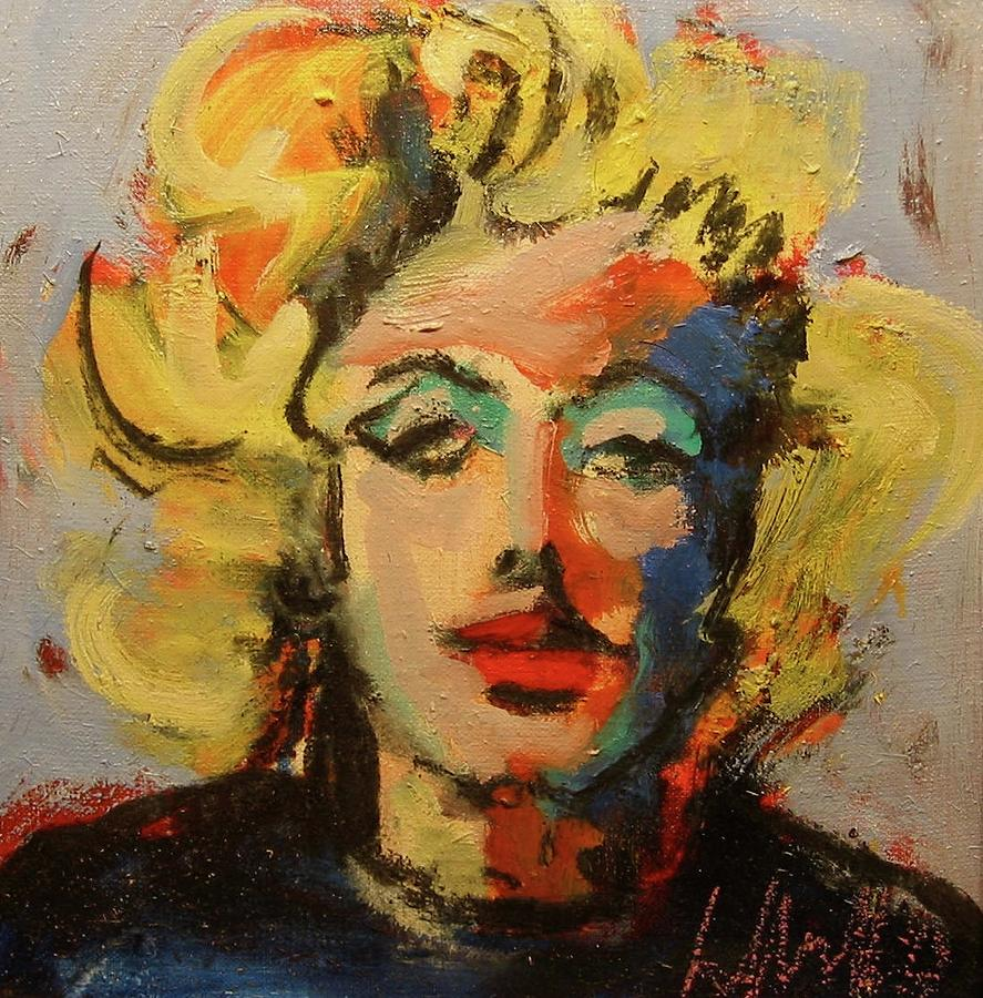 Portraits Painting - Marilyn by Les Leffingwell
