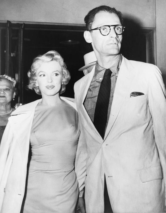 Marilyn Monroe And Her New Husband Photograph by Everett