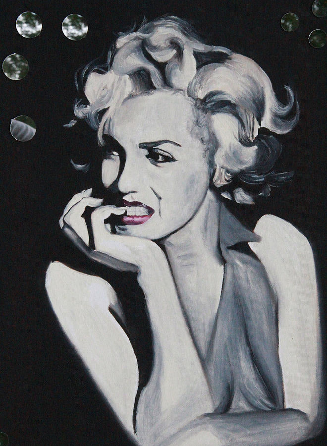 Marilyn Monroe Portrait Painting  - Marilyn Monroe Portrait Fine Art Print