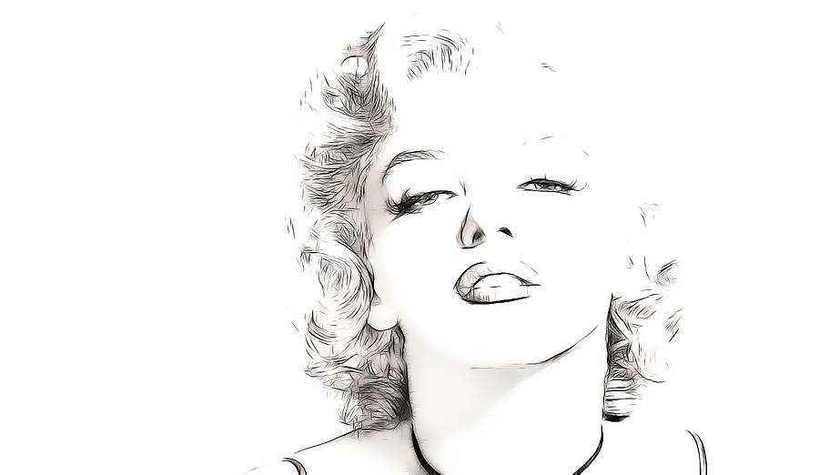 Marilyn Monroe Digital Art  - Marilyn Monroe Fine Art Print