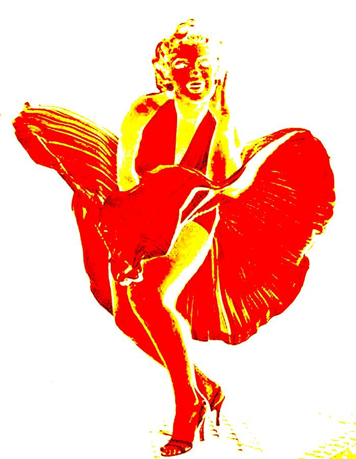 Marilyns Itch Red On White Photograph
