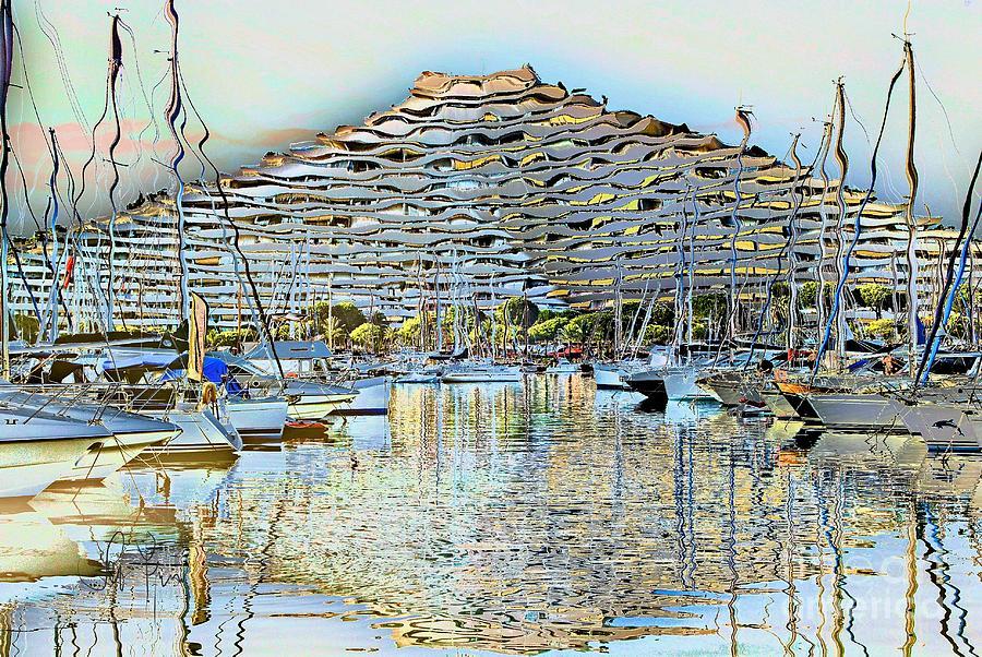 Marina baie des anges digital art by leo symon for Piscine marina baie des anges