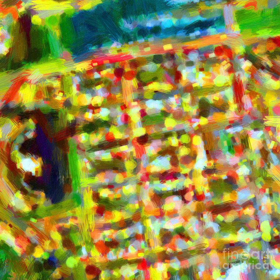 Marina District - San Francisco California Usa - Abstract - Painterly Photograph  - Marina District - San Francisco California Usa - Abstract - Painterly Fine Art Print