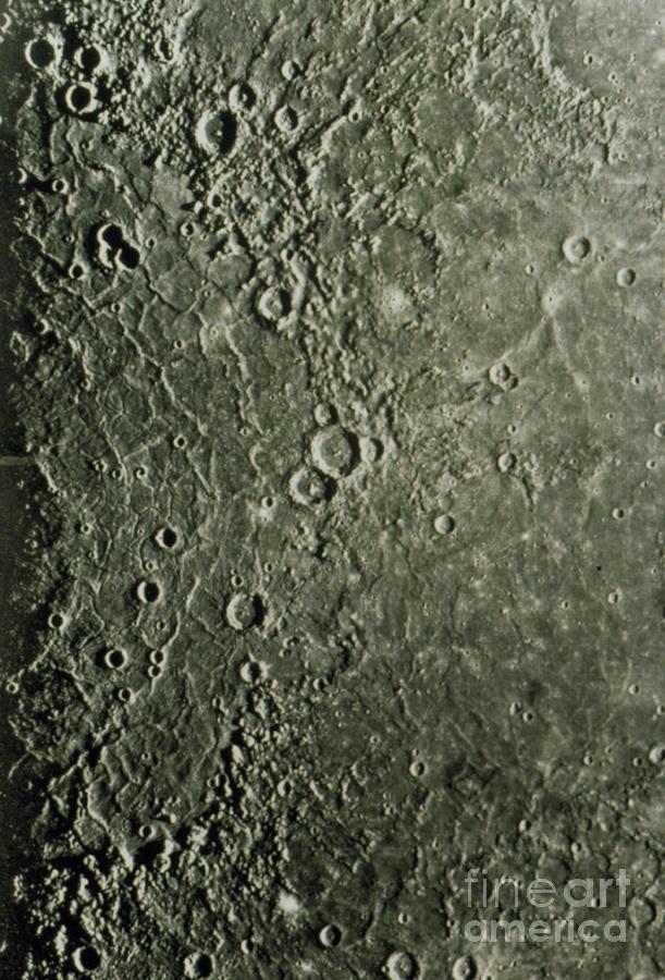 Mariner 10 Mosaic Of Mercury Showing Photograph