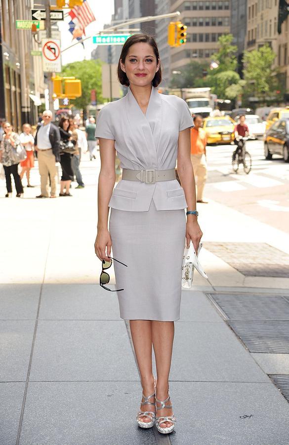 Marion Cotillard Wearing A Dior Suit Photograph