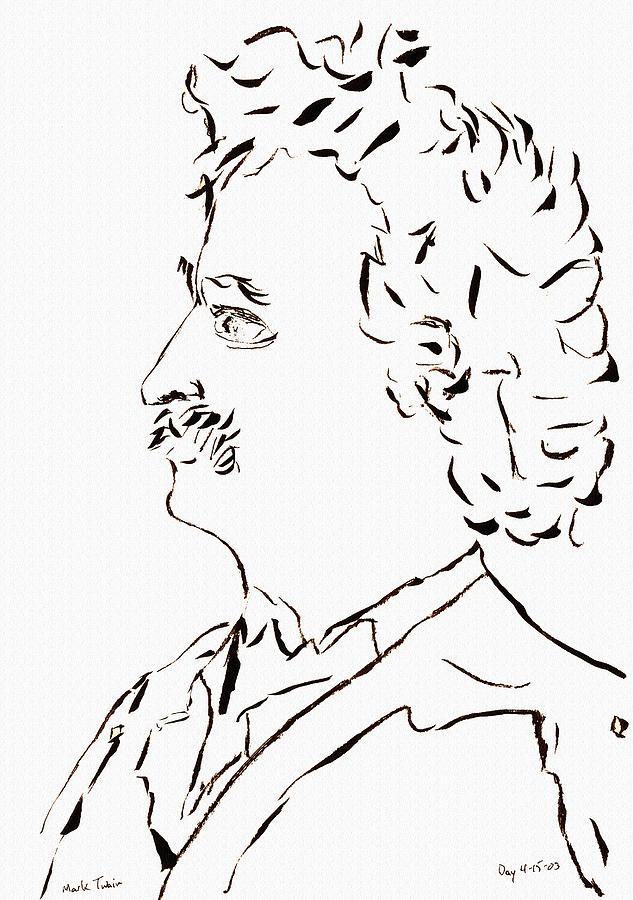 Mark Twain Drawing