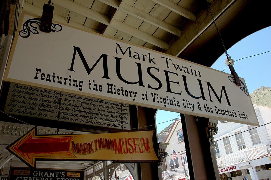 Usa Photograph - Mark Twian Museum Virginina City Nv by LeeAnn McLaneGoetz McLaneGoetzStudioLLCcom