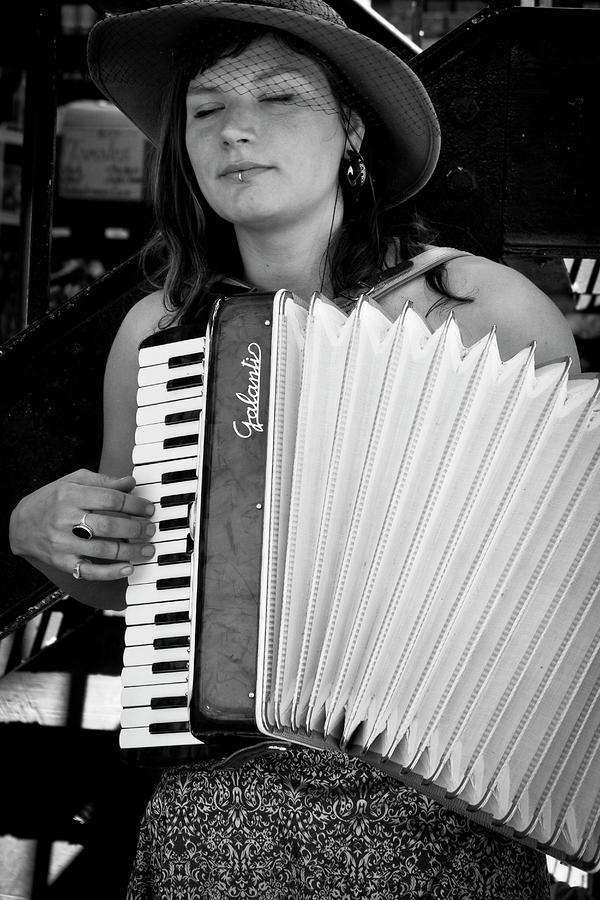 Market Accordion Player Photograph