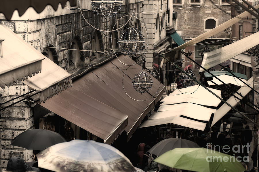 Market In Venice Photograph  - Market In Venice Fine Art Print