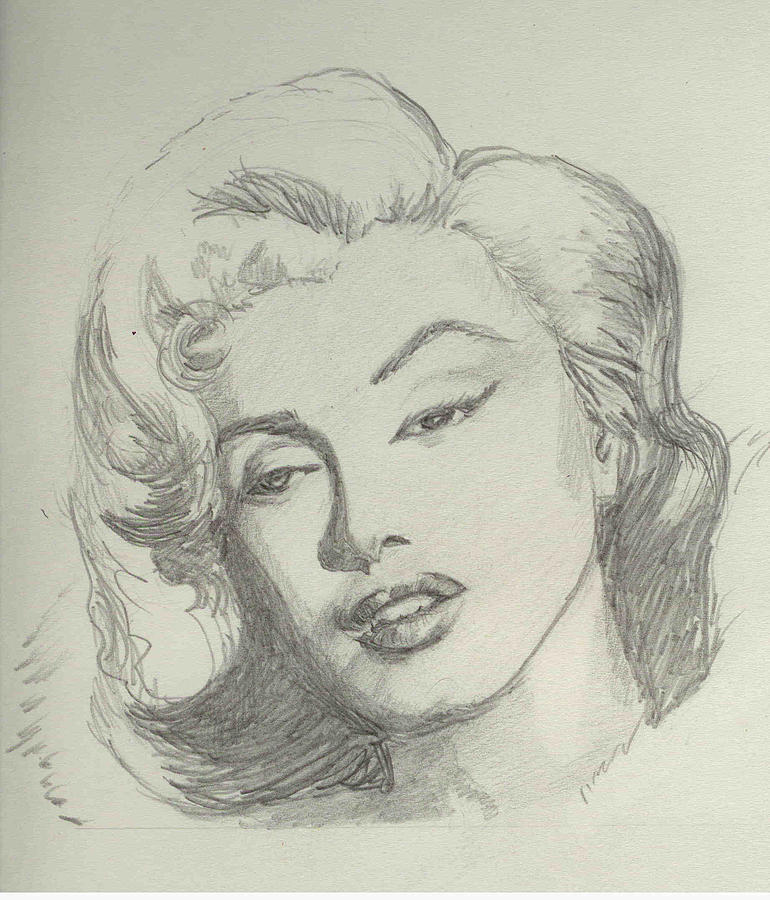 Marlyn Munroe Drawing