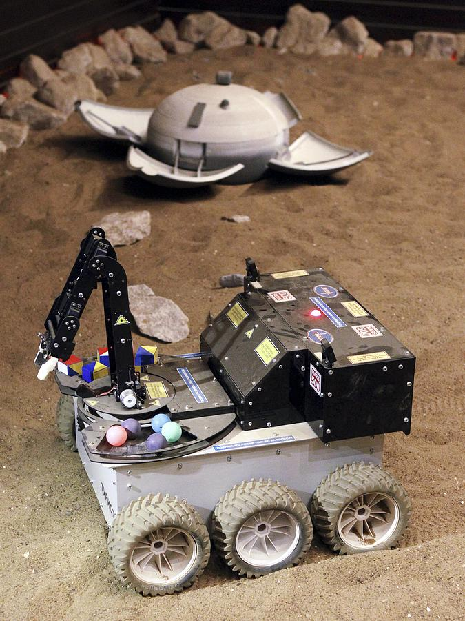 Mars Rover Testing Photograph