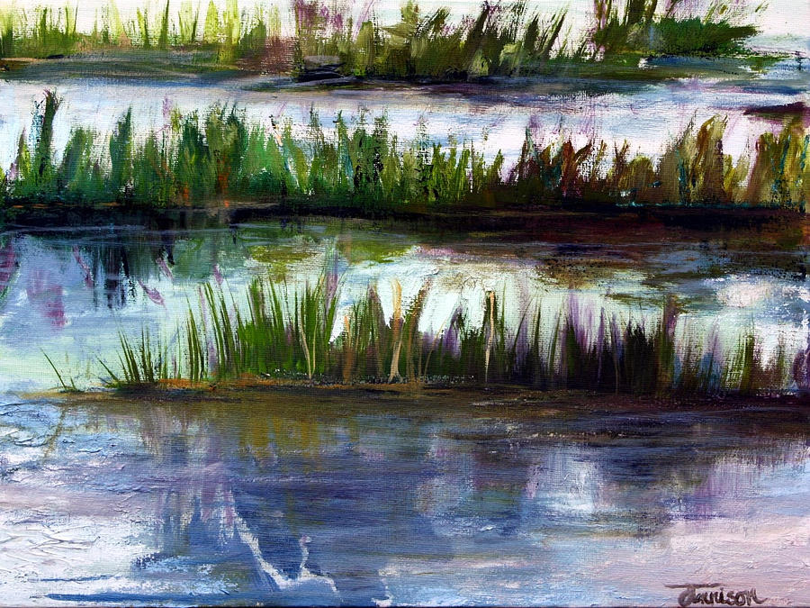 Marsh Grass Painting