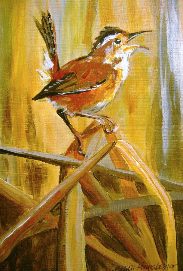 Marsh Wren Painting