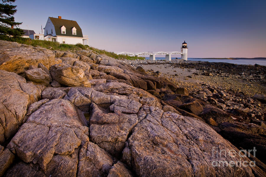 Marshal Point Light Sunset Photograph  - Marshal Point Light Sunset Fine Art Print