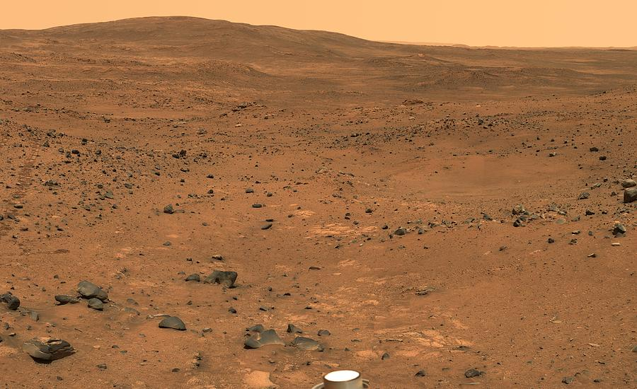 Martian Landscape, Spirit Rover Image Photograph by Jpl ...