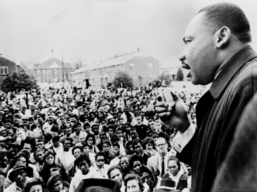 Martin Luther King Addresses Selma Photograph