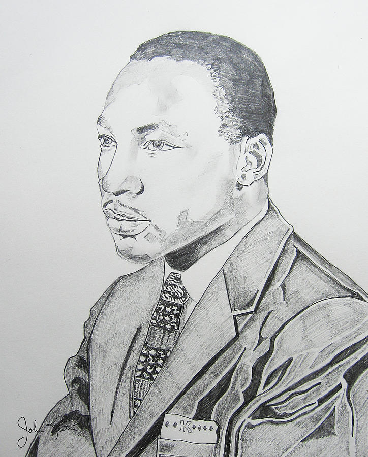 Martin Luther King Jr. Drawing  - Martin Luther King Jr. Fine Art Print