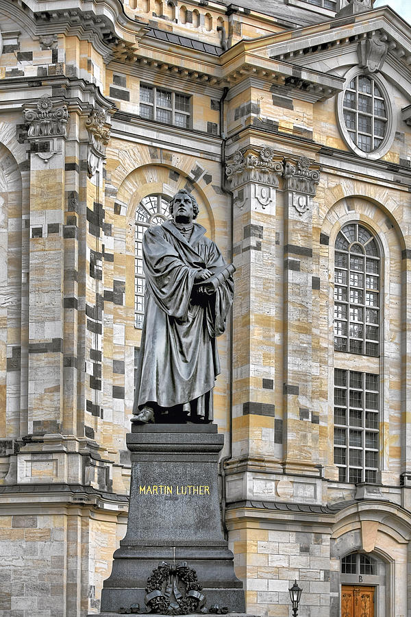Martin Luther Monument Dresden Photograph