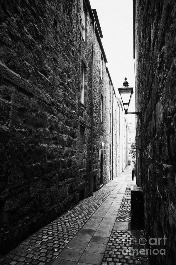 Martins Lane Narrow Entrance To Tenement Buildings In Old Aberdeen Scotland Uk Photograph  - Martins Lane Narrow Entrance To Tenement Buildings In Old Aberdeen Scotland Uk Fine Art Print