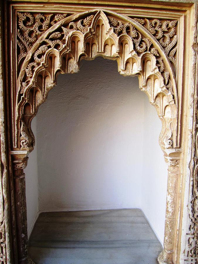 hand carved photograph marvelous hand carved arabic design moulding wall decor granada spain by john - Decor Moulding