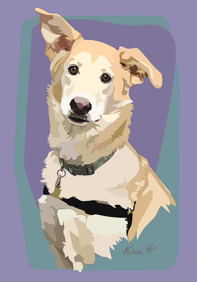 Dog Digital Art - Marvelous Mix by Kris Hackleman