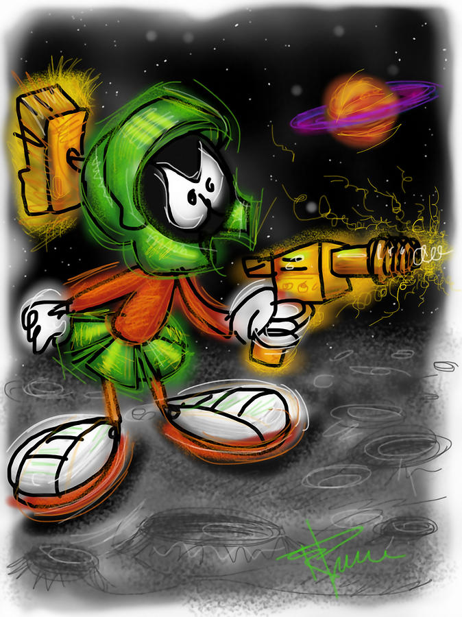 Marvin The Martian Digital Art  - Marvin The Martian Fine Art Print