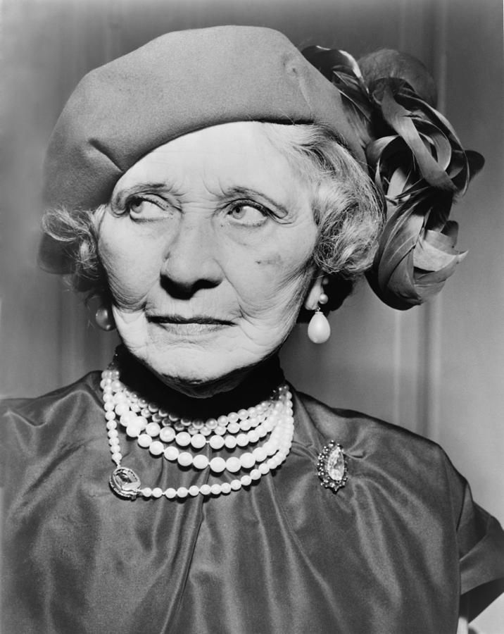 History Photograph - Mary Garden 1874-1967, At The Age Of 80 by Everett