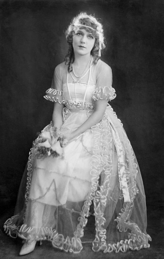 Mary Pickford In Her Wedding Dress, 1920 Photograph  - Mary Pickford In Her Wedding Dress, 1920 Fine Art Print