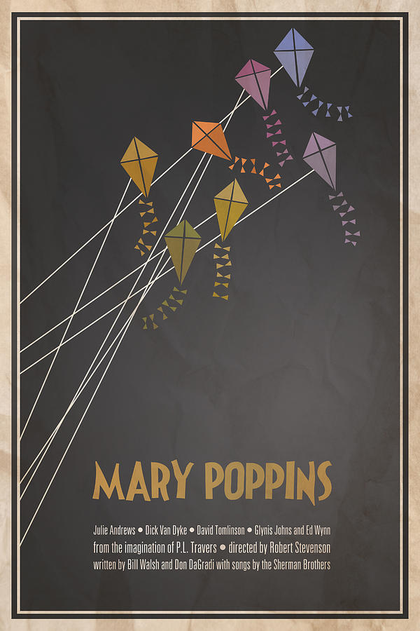 Mary Poppins Digital Art  - Mary Poppins Fine Art Print