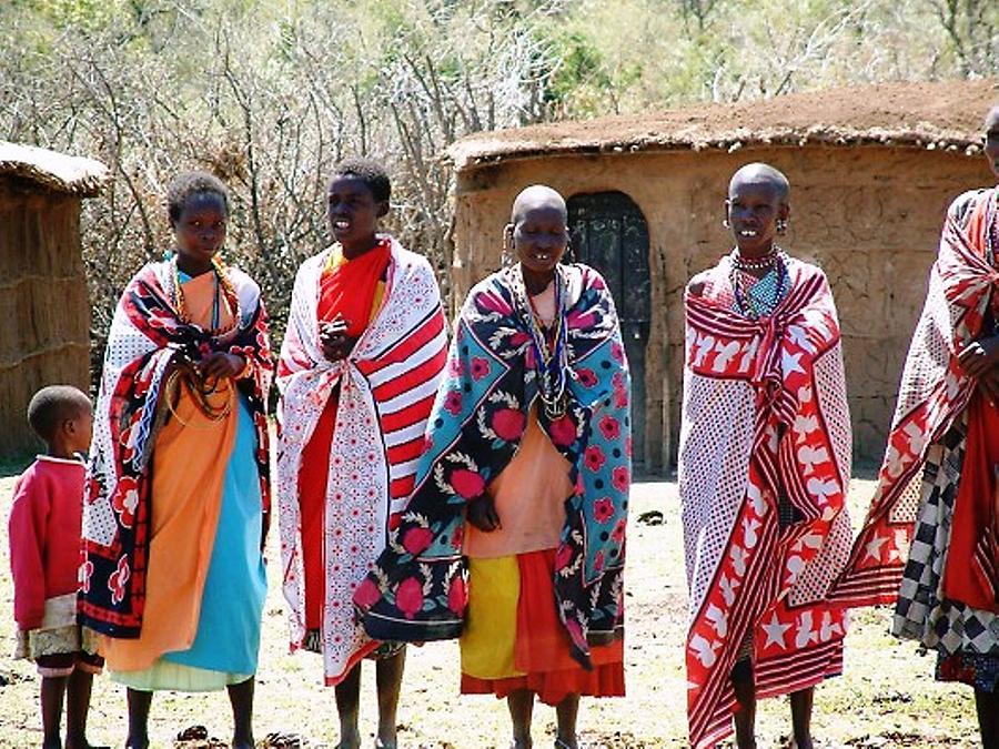 Masai Villagers Photograph