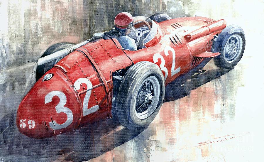 Maserati 250f J M Fangio Monaco Gp 1957 Painting