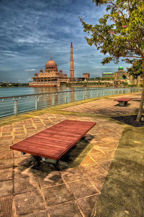 Architecture Photograph - Masjid Putra by Adrian Evans