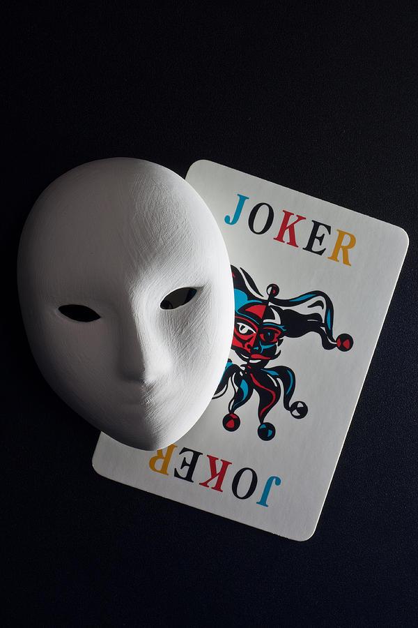 Mask And Joker Pyrography