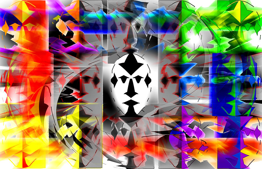 Mask Contemplations Digital Art