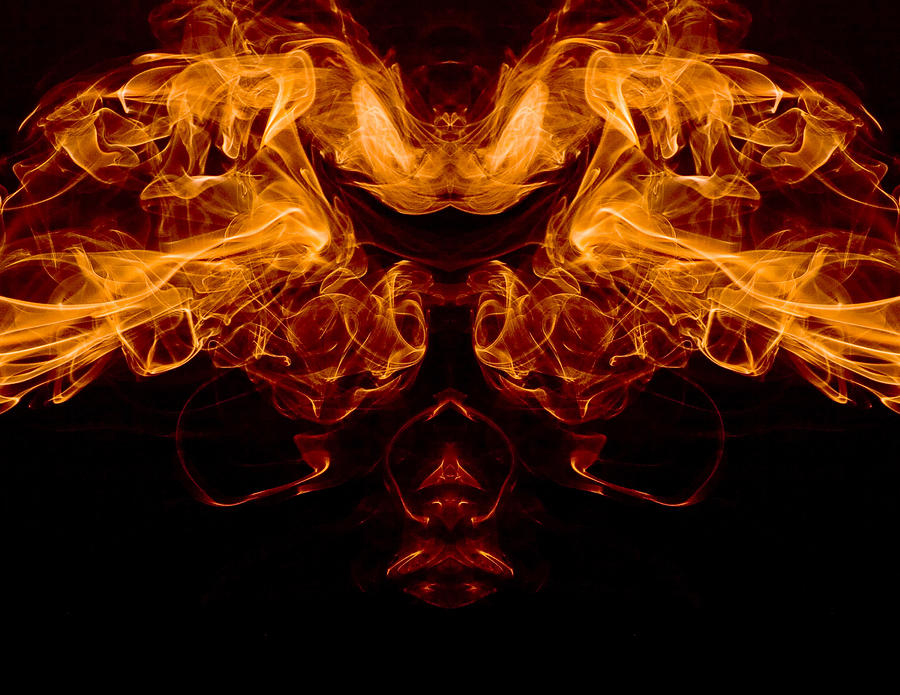 Mask Of Fire Photograph