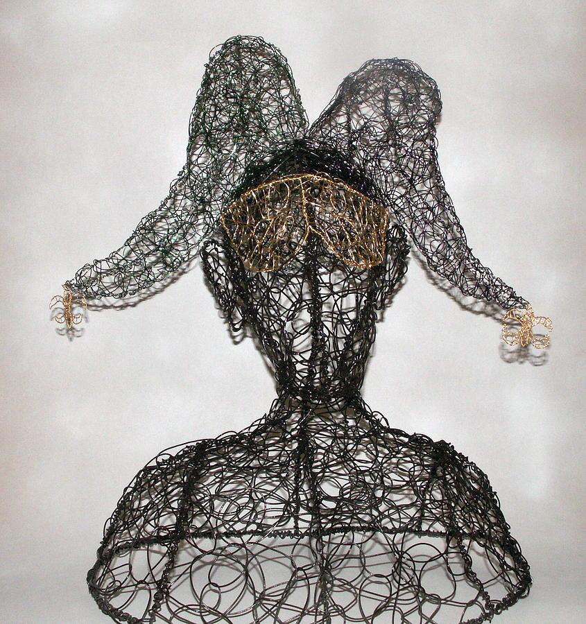Masked Jester Sculpture