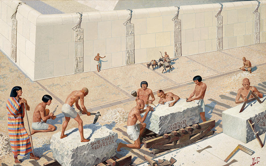 pyramids workers