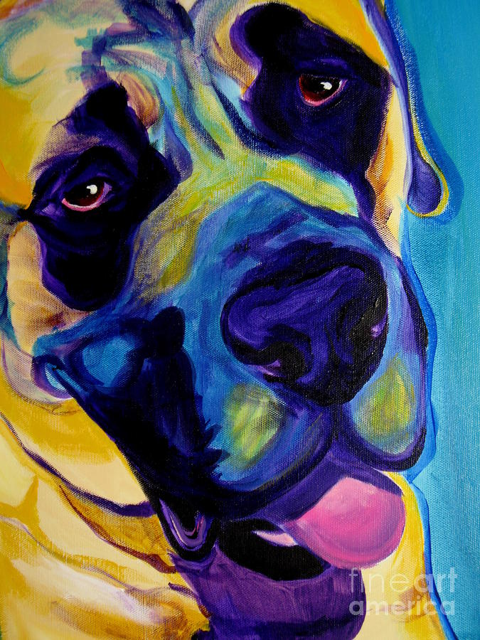 Mastiff - Lazy Sunday Painting