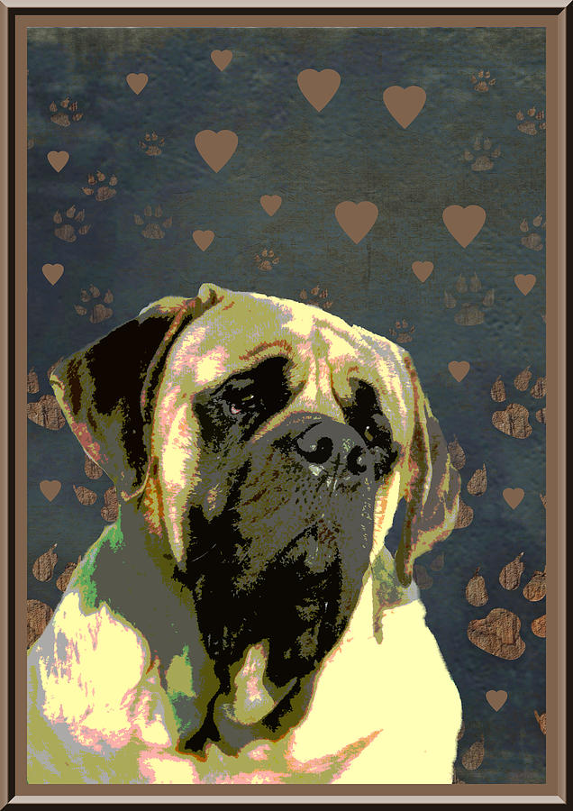 Mastiff Digital Art  - Mastiff Fine Art Print