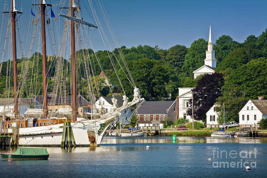 Masts On The Mystic River Photograph  - Masts On The Mystic River Fine Art Print