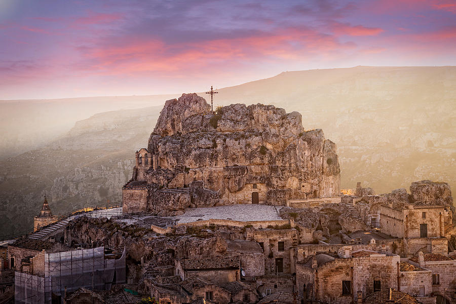 Colour Photograph - Matera Sassi by Michael Avory
