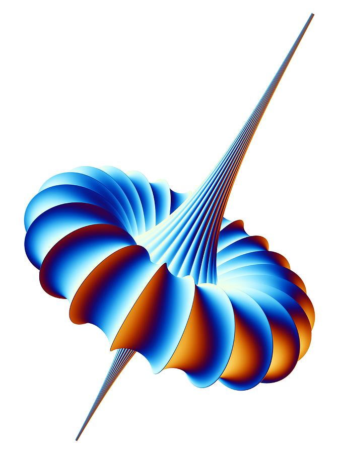 Breather Photograph - Mathematical Model, Artwork by Pasieka