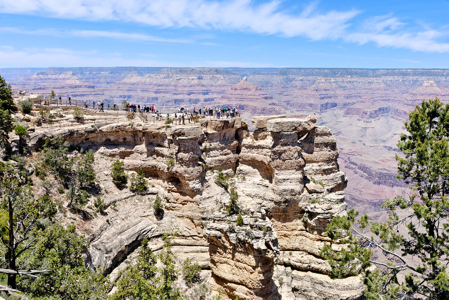 Mather Point At The Grand Canyon Photograph  - Mather Point At The Grand Canyon Fine Art Print